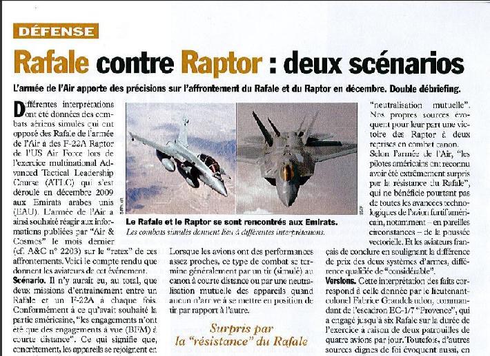 F-22 vs rafale - General F-22A Raptor forum