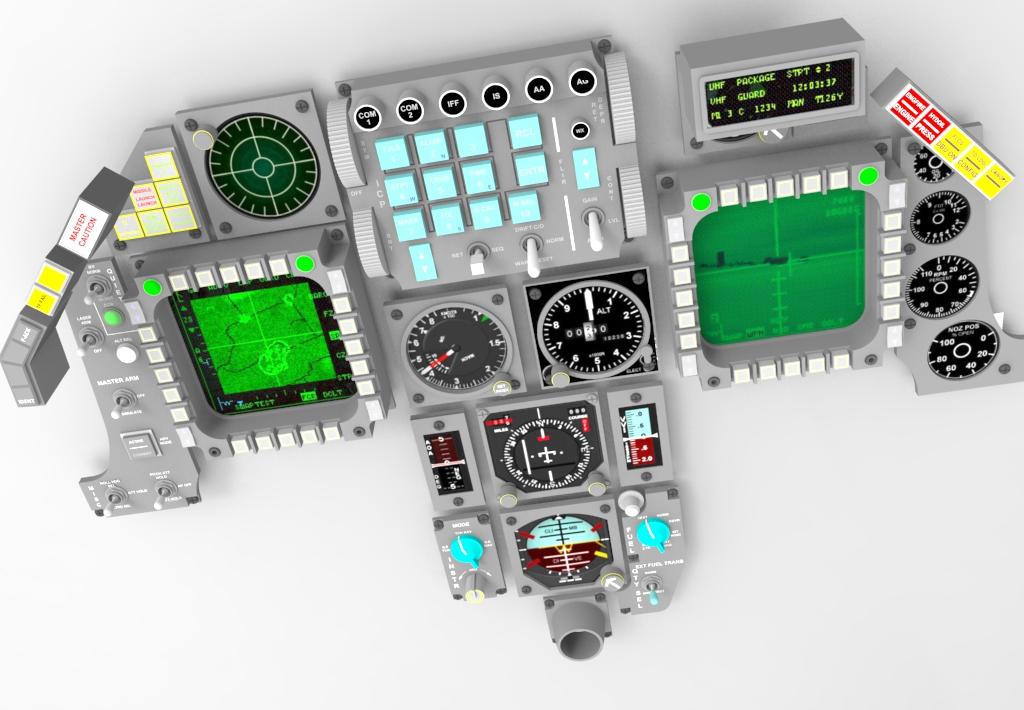 CAD files of the F-16 cockpit - F-16 Simulators