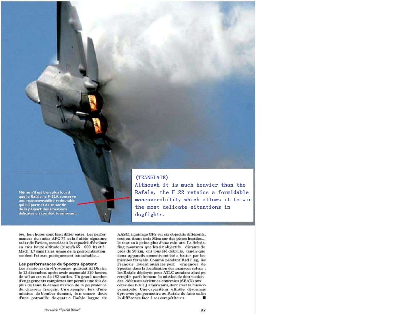 F-22 vs Rafale dogfight results - French souce - General F
